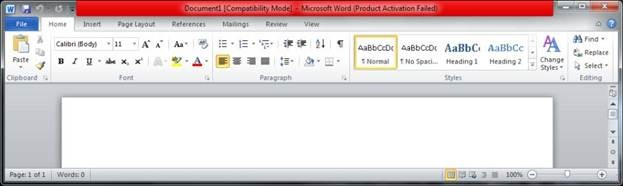 product activation failed office 2013 red bar
