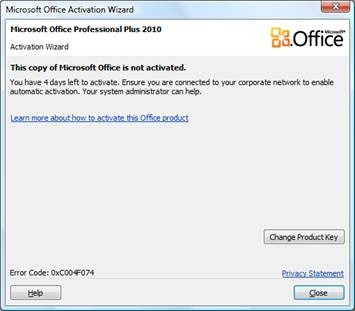 how to activate ms office 2010 product key