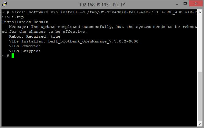 Installing Dell OpenManage Server Administrator on VMWare